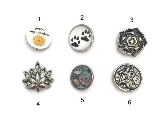 Snap Buttons, Snap Charms, Add to Snap Necklaces and Snap Bracelets, 18mm Snaps, Standard Size Snaps