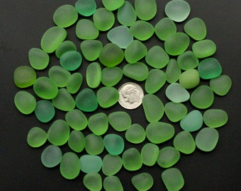 beach sea glass lot bulk wholesale mixed color green lime light-green 15-20mm pieces