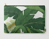 Banana Leaves Clutch Palm Tree Makeup Bag Palm Leaf Pouch Palm Leaves Clutch beachy Travel kit Girls gift travel bag set green tropical bag