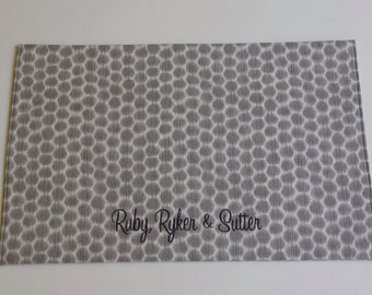 Grey Pet Placemat || Personalized with a name or 3 or DOGS RULE Puppy Bowl Mat Gift by Three Spoiled Dogs