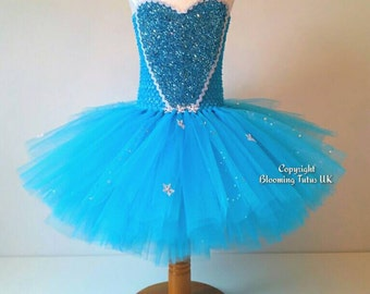 Ice Queen Tutu Dress - Short Version - Birthday, Party, Photo Prop, Pageant, Fancy Dress, Princess