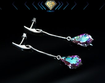 Swarovski Earrings, Swarovski Dangle Earrings, Silver Earrings