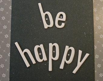 "Carte ""Be happy"""