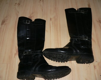 Cafe racer motorcycle boots 1980s   Size 10 Made in England