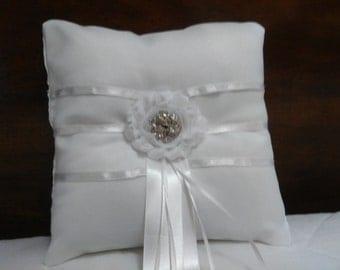 Elegant Chic Ring Bearers Pillow