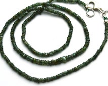 "Very Very Rare Natural Gem Alexandrite Chrysoberyl Smooth 2 to 3.5MM Rondelle Beads Necklace 18"" Strand Finished Necklace Rare Natural Alex"
