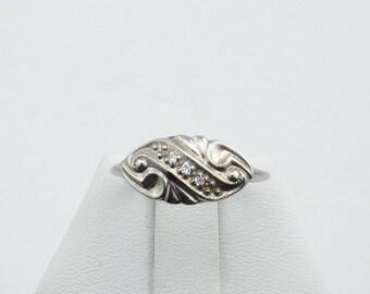 1930's Vintage Art Deco Diamonds in a 10K White Gold Ring #1930WGR-GR1
