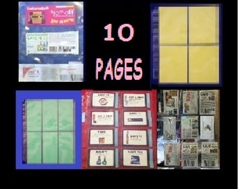 Ships out for free!  - 10 pages for you to Try a SAMPLE PACK! of Coupon Sleeves Pages, Binder, Organizer, Holder - Ships for free!!