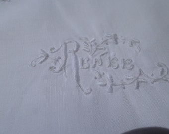 Lovely Vintage Handmade Ladies  Summer Cotton Night Dress embroidered RENEE