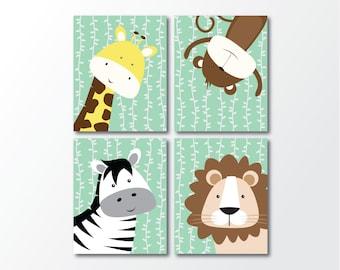 Printable Nursery Art - Safari Nursery Decor - Zoo Animal Decor - Jungle Nursery - Jungle Wall Art - Nursery Decor - Nursery Wall Art