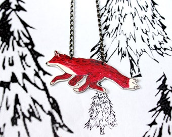Running Red Fox necklace