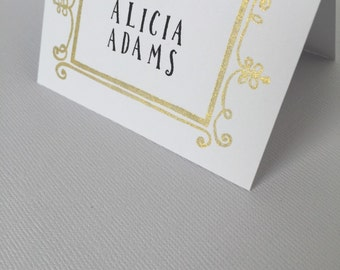 Wedding Place Cards // Gold Place cards // Escort Cards // Buffet Cards// Seating // Special Events // Decor // Frame // Rustic // (10)