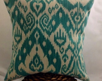 Ikat Print Pillow 16x16