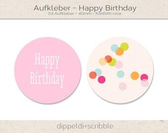 Sticker of happy birthday