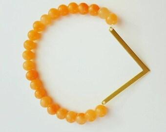 Bracelet Orange and gold