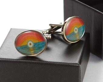 Cufflink Gift Set | Oval Cufflinks | Art Deco Cufflinks | Art Cufflinks | Evil Eye Cufflinks | Evil Eye | Sunset Cufflinks | Sunset | Men