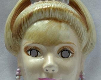 Princess Barbie Halloween Mask Mattel Rubies Costume Tiara Y132