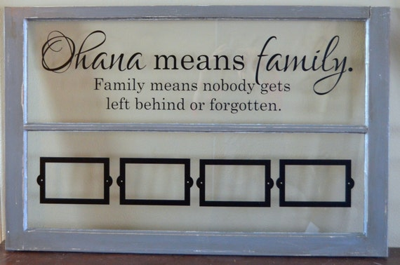 Items Similar To Old Window Picture Frame-Ohana Means