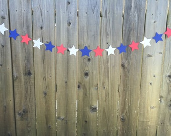 Red, White and Blue Stars Banner