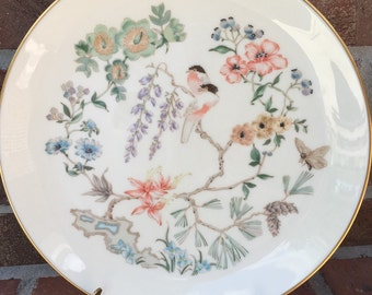 "Vintage Gorham China CHINOISERIE Dinner Plate 1979 - 1983 Display Purposes Only 10-5/8"" dia"
