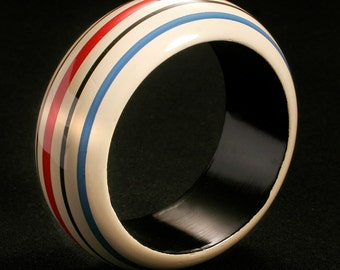 hand painted wooden bangle