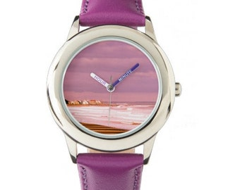 Kid's photo watch - Moody Beach, ME - lovely view of the beach and ocean with a complimenting color strap