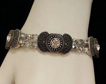 Art Deco Stretch Bracelet, Free Shipping