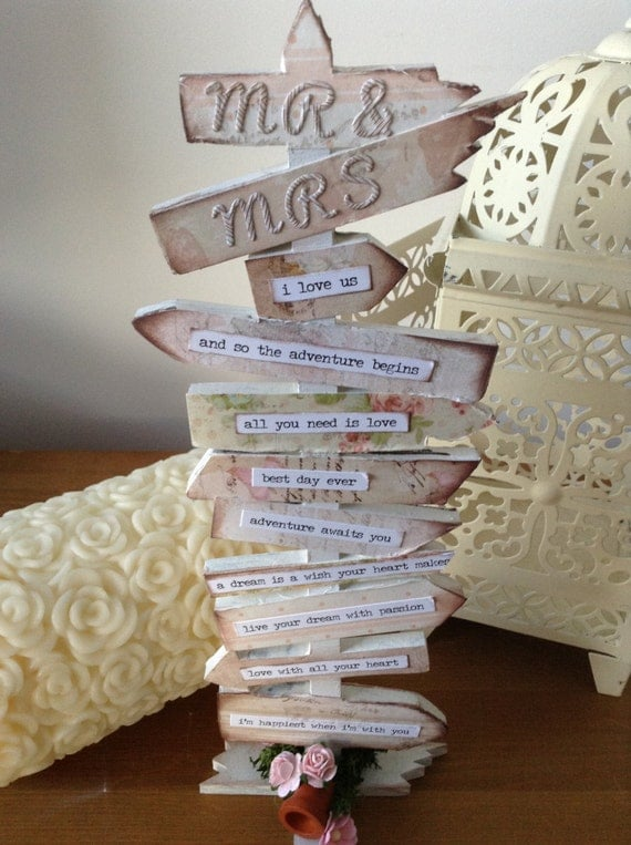 Personalised Wedding Table Gifts : ... sex wedding signpost personalised gift, childrens table decoration