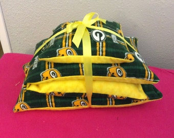 NFL Green Bay Packers Flannel Rice Bags Set of 3