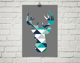 Poster - head of deer in various format perfect for child
