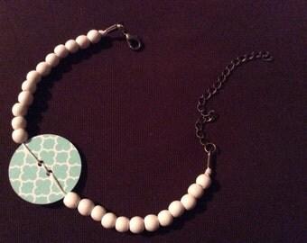 Teal Button Bracelet