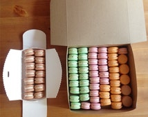 A dozen french macarons custom colour Toronto, Canada shop