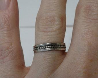 Sterling Silver Ring Wedding Band Dot Design