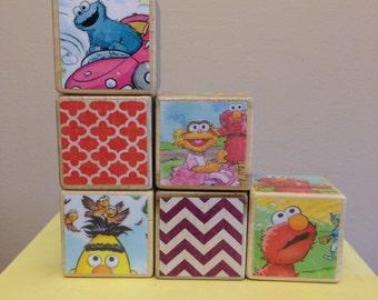 Sesame Street storybook blocks