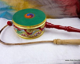 DRUM PERCUSSION instrument music Tibetan ritual Buddhist temple meditation drums