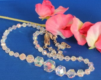 Vintage Clear Crystal Necklace