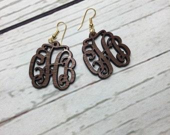 Monogram Dangle/Drop Acrylic Earrings