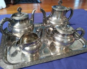 Silverplate Tea Service 1889