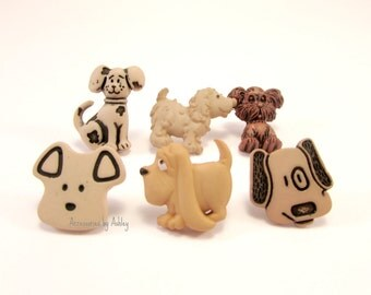 Embellished Push Pins, Decorative Push Pins, Dog Push Pins, Puppy Push Pins, Dog Items, Puppy Items, Dog Decor, Puppy Decor, Animal Push Pin