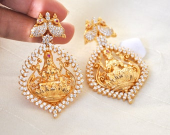 Lakshmi Earrings | Indian Jewelry | Indian Earrings | Gold plated