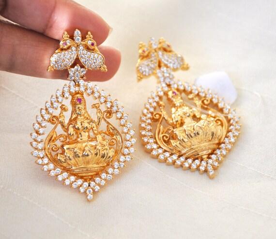 Lakshmi Earrings | Indian Jewelry | Indian Earrings | Gold plated