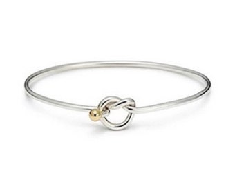 Cape Cod Love Knot Bracelet in Sterling Silver w/ rhodium plated ball