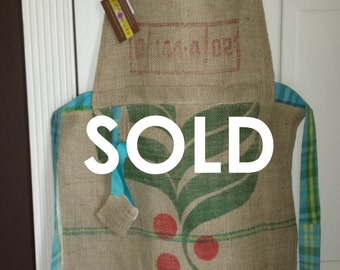 Recycled Coffee Sack Apron