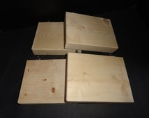 Wooden KD Pine Chinchilla Rat Rodent Small Animal Cage Shelf Ledge Lot of Four