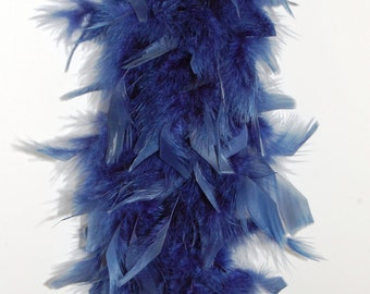 "80 Gram Chandelle FEATHER Boa 72"" NAVY BLUE"