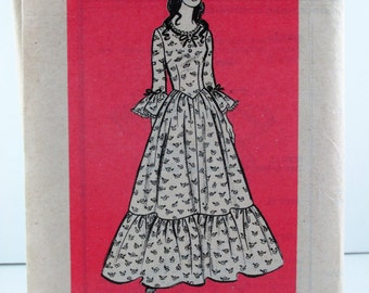 dress pattern Mail Order 9437 Misses  Dress  Size  10 Sewing Pattern Vintage Printed Pattern Unused With Instructions