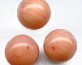 Vintage natural pink coral 7mm beads pkg of 2. b4-cor356(e)