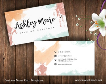 Business Cards Printable, Name Card Template, Photography name card, calling cards, DIY business cards, EASY to Edit and Print at Home