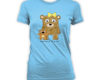 Momma Bear Shirt - Mothers Day Shirt, Gifts for mom from daughter, mothers day from daughter, funny shirt, t-shirts, ladies clothes  CT-288