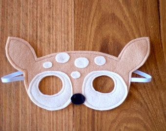 Fawn / Baby Deer Felt Animal Dressup Mask
